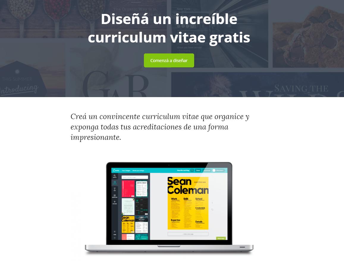 Canva es la mejor pagina para crear tu curriculum online.   Dinamia ...