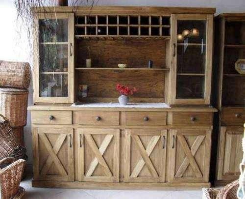 Estilo campo arte macizo muebles de cocina y artesanales for Bar de madera estilo campo